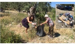 Kampiz üyelerinden Hayıtlı'da çevre temizliği