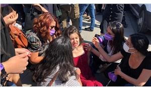 Ankara Adliyesi önünde açıklama yapmak isteyen kadınlara polis müdahalesi!