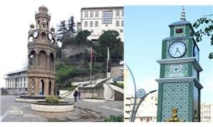 AKP'li Giresun Belediyesi, eskisini kaldırıp şehre estetikten yoksun yeni bir saat kulesi kazandırdı