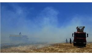 Antep'te buğday ekili 70 dönüm alan yandı