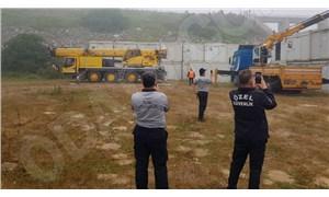 İBB ekipleri Kanal İstanbul şantiyesini tahliye etti