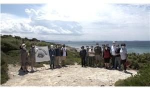 Bozcaada'da ranta kılıf uyduruldu