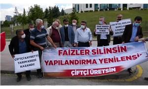 Çiftçiler Ziraat'ın haczine karşı Ankara'da hak aradı