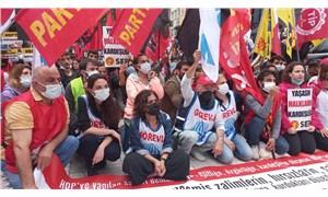 DİSK, KESK, TMMOB ve TTB'den Kadıköy'de eylem