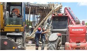 Polatlı'da inşaatta meydana gelen göçükte, Özgür Aydaş isimli işçi hayatını kaybetti