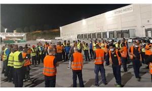 Greve çıkan işçilere kamyonlu saldırı