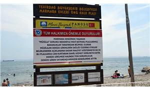 Tekirdağ'da mavi bayraklı plajlara 'denize girmeyin' uyarıları konuldu