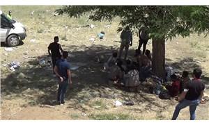 Bitlis'te yol kenarına terk edilmiş 70 göçmen bulundu