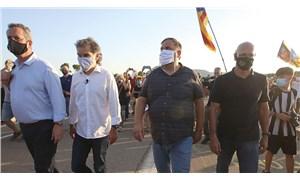 Katalan siyasetçiler  af sonrası serbest