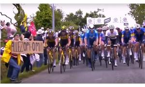 Fransa Bisiklet Turu'nda 50 bisikletçiyi düşüren kadın gözaltına alındı
