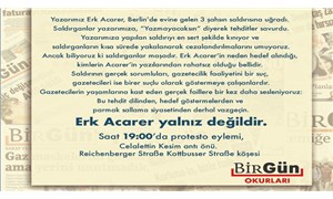 Almanya BirGün okurları, Erk Acarer'e saldırıyı protesto edecek: Acarer yalnız değildir!