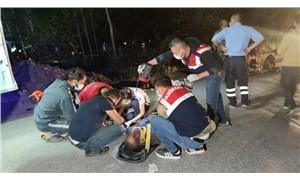 Van'da göçmenleri taşıyan minibüs kaza yaptı: En az 8 can kaybı