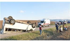 Yozgat'ta tarım işçilerini taşıyan minibüs devrildi: 11 yaralı