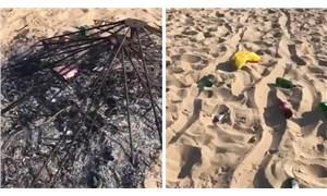 Bozcaada Belediyesi'nden sahili mahveden grupla ilgili açıklama: Tek tek tespit ediliyorlar