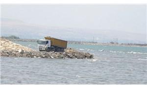 Van Gölü molozlarla dolduruluyor