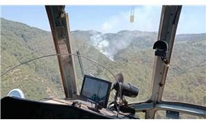 İzmir'de ormanlık alanda çıkan yangın, kontrol altına alındı