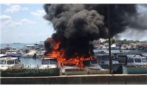 Maltepe'de yanan tekne sayısı 8'e yükseldi