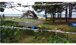Ordulular sahile tel örgü çekilmesine tepki gösterdi: Halk, kendi topraklarında denize giremiyor