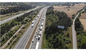 TEM'in İstanbul yönü trafiğe kapatıldı