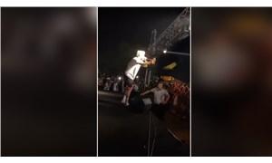 Rapçi Şehinşah'tan 'Erdoğan' göndermesi: Konserde çay fırlattı