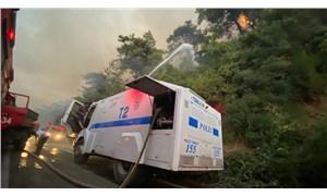 TOMA'lar 7 gün sonra yangın bölgesinde