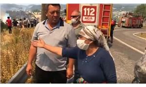 Yangın yerinde köylünün isyanı: Bize su vereceğine çay atıyor, böyle başkan olur mu?