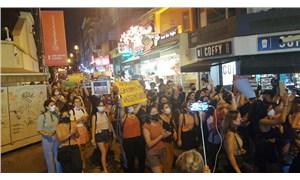 Kadıköy'de katledilen kadınlar için eylem