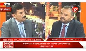 Sivas Pazarcılar Odası Başkanı, işe alımlar için AKP İl Başkanı'na gönderdiği CV'leri canlı yayında anlattı