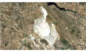 Tuz Gölü'ndeki kuraklık uydu görüntülerine yansıdı