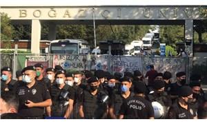 Boğaziçi öğrencilerinin eylemine polis engeli