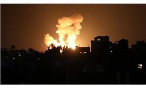 İsrail savaş uçakları, Gazze Şeridi'ni vurdu