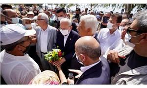 Kılıçdaroğlu ve CHP'li belediye başkanlarından yangın bölgelerine ziyaret