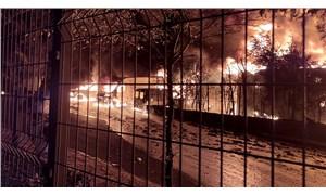 İkitelli Çevre Oto Sanayi Sitesi'nde yangın