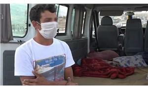Covid-19 testi pozitif olan tarım işçisi minibüste battaniyeyle saklanırken yakalandı