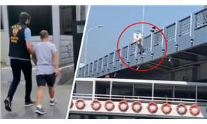 Galata Köprüsü'nden gemiye atlayan fenomen serbest bırakıldı