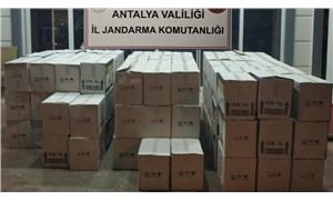 Antalya'da otelde bin 498 litre sahte bandrollü içki ele geçirildi