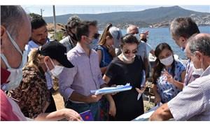 Foça'da Cüruf Depolama Alanı için bilirkişi incelemesi yapıldı: Doğayı ve yaşamı tehdit ediyor