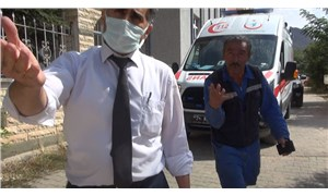 Yurt tadilatında 2 işçi iskeleden düşerek yaralandı, görevliler görüntü alınmasını engellemeye çalıştı
