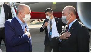 Erdoğan ABD'ye ulaştı, havalimanında Çavuşoğlu tarafından karşılandı