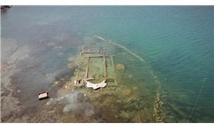 İznik Gölü'nde bulunan bazilika, suların aşırı çekilmesiyle gün yüzüne çıktı