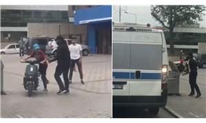 Palalı saldırgan önce minibüse sonra yoldakilere saldırdı