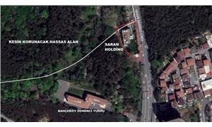 Bakanlığın 'kesin korunacak hassas alan' sınırı Saran Holding binasını es geçti
