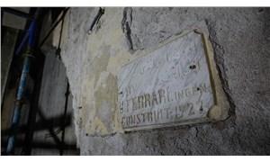 Haldun Taner Sahnesi'nin restorasyonu sırasında mimar kitabesi bulundu