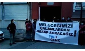 TÜGVA'yı protesto eden gençlere 1 saatte soruşturma!