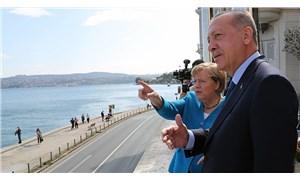 Erdoğan ve Merkel, Huber Köşkü'nden boğazı izledi
