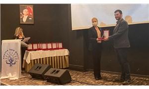 Ankara Tabip Odası'ndan muhabirimiz İsmail Arı'ya ödül