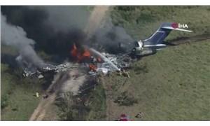 ABD'de uçak düştü; Tüm yolcu ve mürettebat sağ kurtuldu