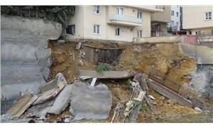 AKP'li Üsküdar Belediyesi'nin proje inşaatında istinat duvarı çöktü