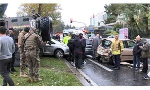 Sarıyer'de zırhlı polis aracı 6 araca çarptı: 3 yaralı