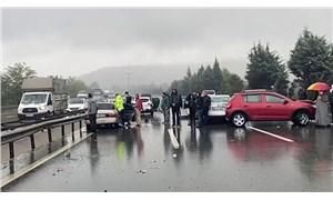 TEM'de 15 araç birbirine girdi